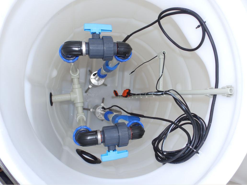 PROMINENT DUO vystrojená kompletní čerpací jímka pro dvě čerpadla