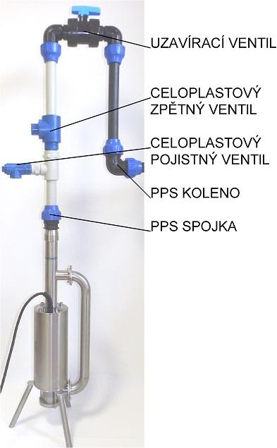 ATK1 armatura k čerpadlu tlakové kanalizace